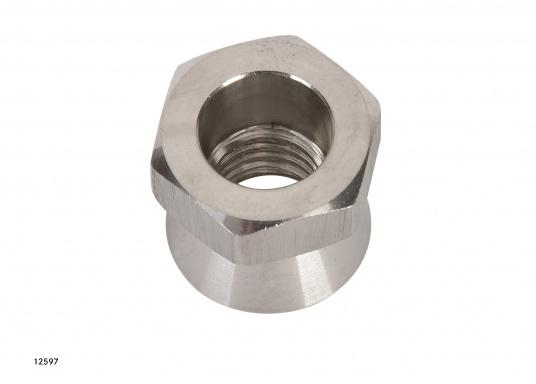 Security for your valuable equipment –with the high polishes stainless steel (AISI 316) safety nuts. Available in two sizes: M10 and M12 (Image 2 of 3)