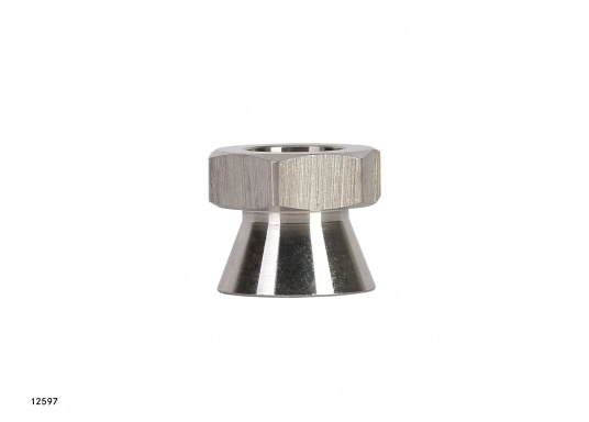 Security for your valuable equipment –with the high polishes stainless steel (AISI 316) safety nuts. Available in two sizes: M10 and M12 (Image 3 of 3)