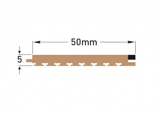 Elegant und technisch hochwertig! Der flexible Teakoptik Deckbelag kann auf Kunststoff-, Stahl- und Holzoberflächen eingesetzt werden. Er ist langlebig, vollständig UV-stabilisiert und besonders rutschfest.  (Bild 13 von 60)