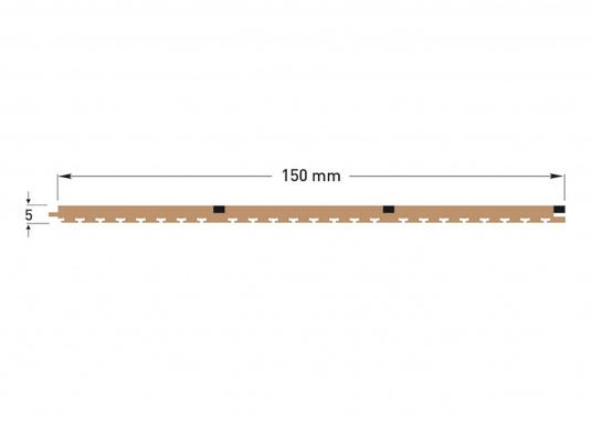 Elegant und technisch hochwertig! Der flexible Teakoptik Deckbelag kann auf Kunststoff-, Stahl- und Holzoberflächen eingesetzt werden. Er ist langlebig, vollständig UV-stabilisiert und besonders rutschfest.  (Bild 14 von 60)