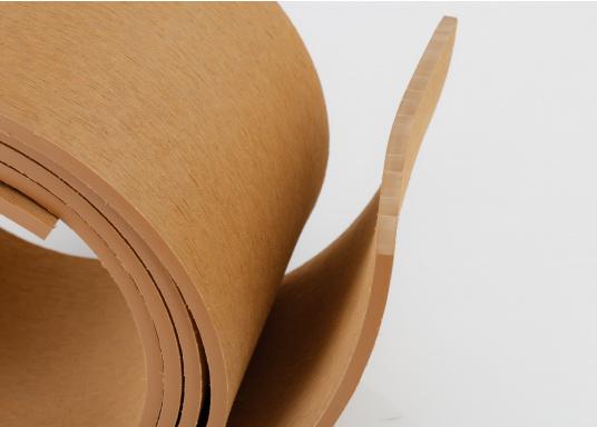 Elegant und technisch hochwertig! Der flexibleDecksbelag in Teak Optikkann auf Kunststoff-, Stahl- und Holzoberflächen eingesetzt werden. Er ist langlebig, vollständig UV-stabilisiert und besonders rutschfest.  (Bild 7 von 12)