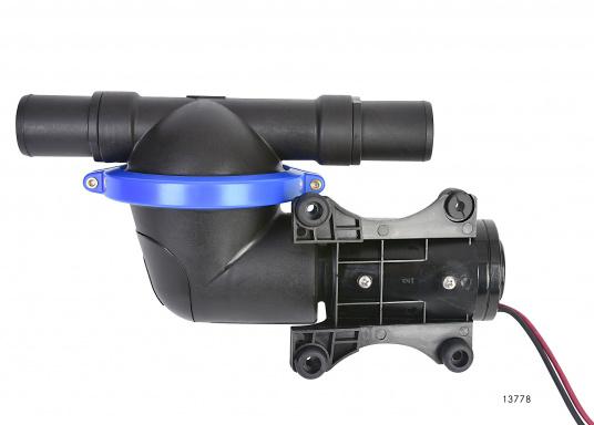 Leistungsstarke Fäkalienpumpe. Flexible Installation und kompakte Konstruktion.Die Pumpe ist trockenlaufsicher und bis zu 3 m trocken selbstansaugend. Kein Filter erforderlich.  (Bild 3 von 4)