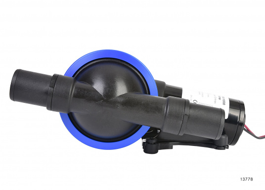 Leistungsstarke Fäkalienpumpe. Flexible Installation und kompakte Konstruktion.Die Pumpe ist trockenlaufsicher und bis zu 3 m trocken selbstansaugend. Kein Filter erforderlich.  (Bild 2 von 4)