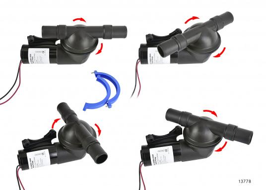 Leistungsstarke Fäkalienpumpe. Flexible Installation und kompakte Konstruktion.Die Pumpe ist trockenlaufsicher und bis zu 3 m trocken selbstansaugend. Kein Filter erforderlich.  (Bild 4 von 4)