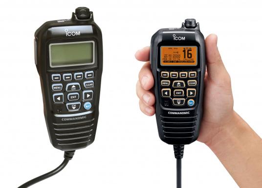 Mit dem optionalen COMMANDMIC HM-195B kann man das IC-M423 oder IC-M506GEz.B. bequem aus der Kabine fernsteuern.
