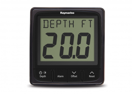 Technically advanced Raymarine i50 depth system with reliable indication, even at high speeds.    minimum / maximum depth  audio alarm for flat / deep water and anchor  trend indicator   (Image 4 of 4)