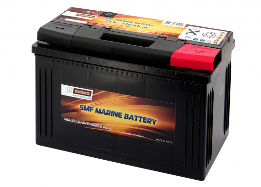 These SMF (Sealed Maintenance Free) VETUS batteries are maintenance-free and no refilling is necessary. They are very lightweight, compact and have a very low self-discharge rate.