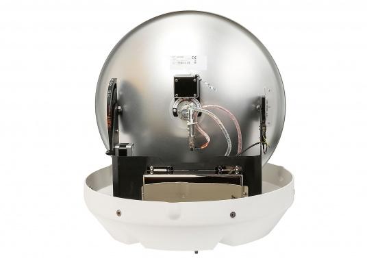 Die Satelliten TV-Antenne RHEA bietet beste Leistung beim Empfang von HD-TV Signalen. Der große Spiegel (47 cm) sorgt dafür, dass sie auch in Randgebieten und bei schlechtem Wetter ein störungsfreies Fernsehbild genießen können. (Bild 3 von 12)