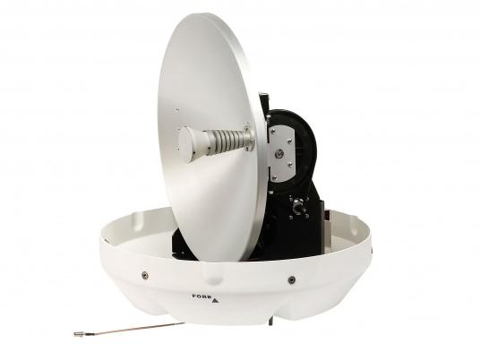 Die Satelliten TV-Antenne RHEA bietet beste Leistung beim Empfang von HD-TV Signalen. Der große Spiegel (47 cm) sorgt dafür, dass sie auch in Randgebieten und bei schlechtem Wetter ein störungsfreies Fernsehbild genießen können. (Bild 2 von 12)