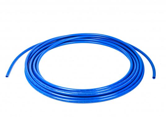 Rohr blau fürs Connect Rohrleitungssystem. Besonders zuverlässiges Rohrleitungssystem, speziell geeignet für den Einsatz an Bord! Schnelle Installation: Dank vorgegebener Schnittmarken ist ein Ablängen der Rohre ganz einfach möglich.
