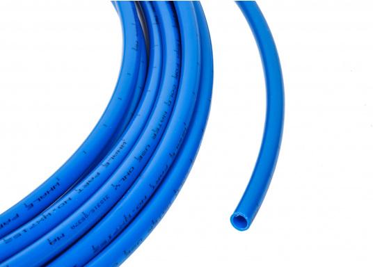 Rohr blau fürs Connect Rohrleitungssystem. Besonders zuverlässiges Rohrleitungssystem, speziell geeignet für den Einsatz an Bord! Schnelle Installation: Dank vorgegebener Schnittmarken ist ein Ablängen der Rohre ganz einfach möglich.  (Bild 2 von 3)