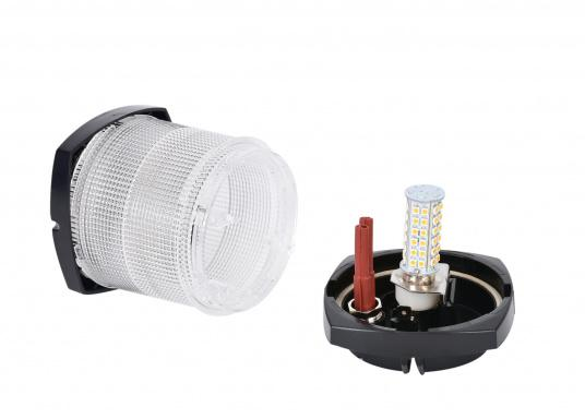 High-Power LED – this replacement bulb with 60 ultra bright light diodes is suitable for use in navigation lights. An integrated electronic system enables polarity identification.