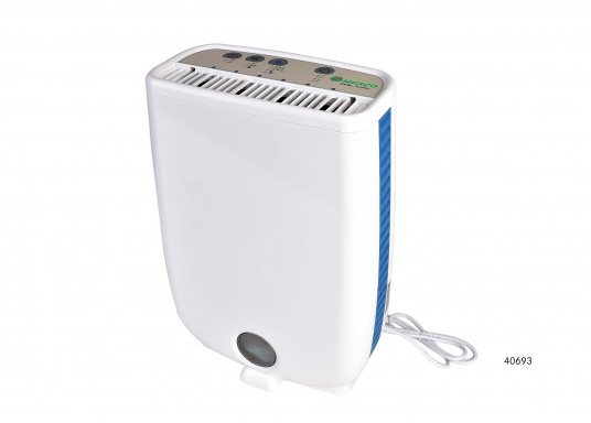 Small and lightweight dehumidifier, perfect to keep your boat dry in winter storage. Can also be used in mobile homes, cellar rooms or garages. Available in 2 versions (with and without Ionisator).