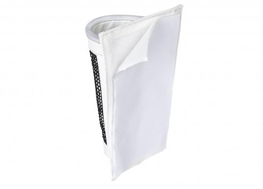Windenkurbeltasche mit Innenschicht aus PVC und PU Netz. Die Tasche lässt sich mit der selbstklebenden Klettbandbefestigung auf der Rückseite nahezu überall mühelos anbringen – keine Bohrlöcher mehr nötig! (Bild 4 von 4)