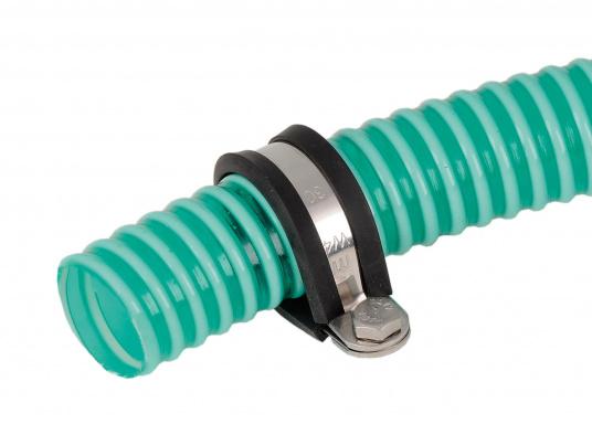 Halteschellen aus Edelstahl (AISI 304) mit Gummieinlage, erhältlich für verschiedene Rohr-Ø. (Bild 3 von 3)