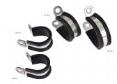 Fastening Clamps with Rubber Inlay