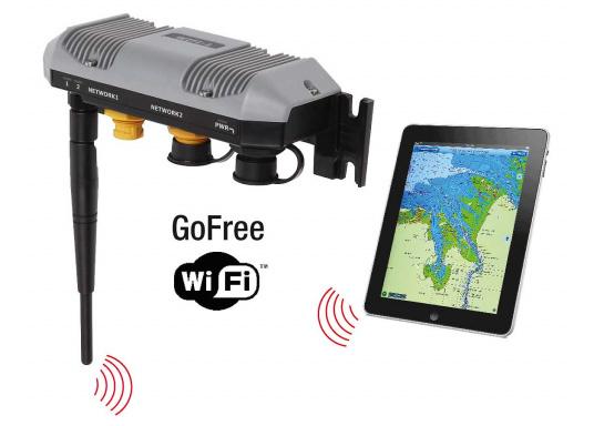 Mehr Freiheit an Bord! Mit dem WiFi-Modul GOFREE können Sie ihre Smartphones und Tablets an Bord zur Steuerung von fest installierten Kartenplottern und Instrumenten nutzen.  (Bild 8 von 8)