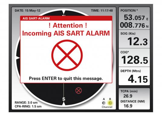 Sie haben bereits einen AIS-Empfänger / Sender an Bord und möchten nicht auf die Darstellung der AIS-Ziele / SART-Funktionen verzichten? Der MFR6 stellt eingehende NMEA-Daten dar und ist soeine ideale Ergänzung!  (Bild 3 von 11)