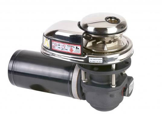 Vertikale Ankerwinden mit / ohne Spill, mit 300 / 500 Watt erhältlich. Model PRINCE DP1 hat ein eloxiertes Alugetriebe und eine Edelstahl-Basis. Ausgestattet mit manuellem Free-Fall-System, Druckhebel, Inspektionsdeckel, wasserdichtem Motor.