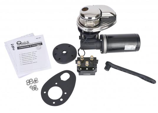 Vertikale Ankerwinden mit / ohne Spill, mit 300 / 500 Watt erhältlich. Model PRINCE DP1 hat ein eloxiertes Alugetriebe und eine Edelstahl-Basis. Ausgestattet mit manuellem Free-Fall-System, Druckhebel, Inspektionsdeckel, wasserdichtem Motor. (Bild 5 von 6)