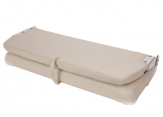 Auf dieser komfortablen Bank mit klappbarer Rückenlehne haben zwei Personen bequem Platz. Breite: 90 cm, Tiefe: 48 cm, Sitztiefe: 35 cm, Höhe: 45 cm.  (Bild 10 von 14)