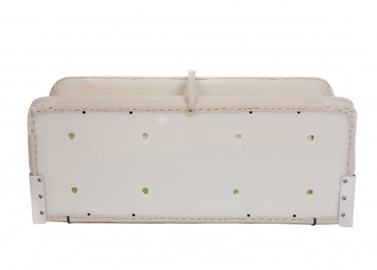 Auf dieser komfortablen Bank mit klappbarer Rückenlehne haben zwei Personen bequem Platz. Breite: 90 cm, Tiefe: 48 cm, Sitztiefe: 35 cm, Höhe: 45 cm.  (Bild 11 von 14)
