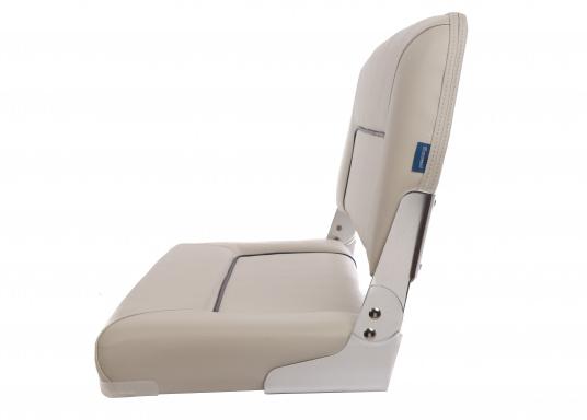 Auf dieser komfortablen Bank mit klappbarer Rückenlehne haben zwei Personen bequem Platz. Breite: 90 cm, Tiefe: 48 cm, Sitztiefe: 35 cm, Höhe: 45 cm.  (Bild 2 von 7)