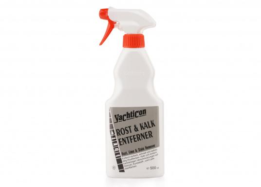 Entfernt einfach, schnell und selbsttätig Rostflecken, Kalk und andere hartnäckige Verschmutzungen auf Gelcoat, Kunststoff- und Lackflächen. Nicht geeignet für Metalloberflächen. Inhalt: 500 ml.