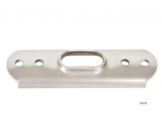 Rost- und säurebeständige, hochglanzpolierte Ankerplatten. Passend für T-Terminals. Erhältlich in verschiedenen Größen.  (Bild 6 von 12)