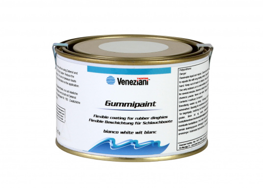 Ideal for inflatable boats - e.g. to write the boat nameon your boat. The elastic 1-component, elastomer-based paint is highly resistant to marine weather, UV radiation and fresh and salt water.