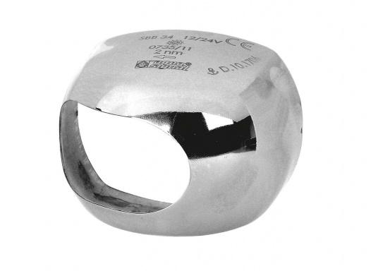 Edelstahlabdeckung, poliert. Passend für aqua signal - LED Serie 34.