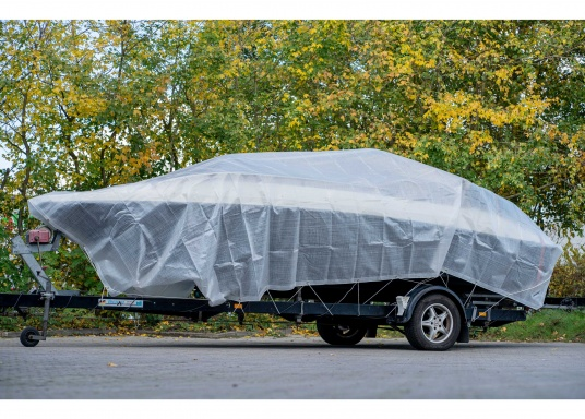 Extreme stability! This cover protects your boat during winter storage. Also suitable to cover objects at home, in the yard or garden etc. Weight: 250 g/m².