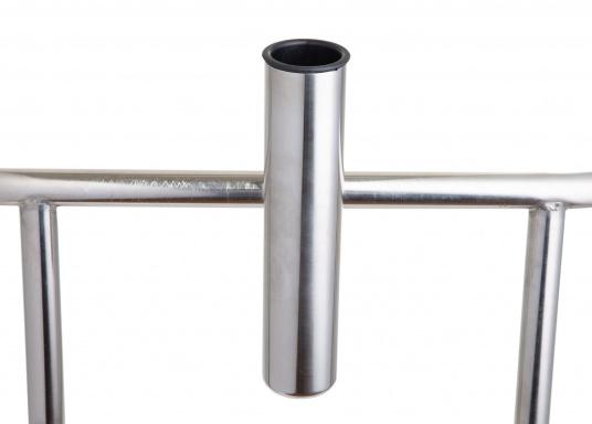 Angelruten-Halter in stabiler Nirokonstruktion zur Relingsbefestigung.Geeiegnet für Relingsrohr-Ø von 22 - 25 mm.      (Bild 4 von 5)