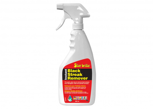 No more black streaks on the hull of your boat! This cleaner removes streaks which are caused by water outlets on the hull. Suitable for fiberglass, metal and wooden hulls, and on painted surfaces.
