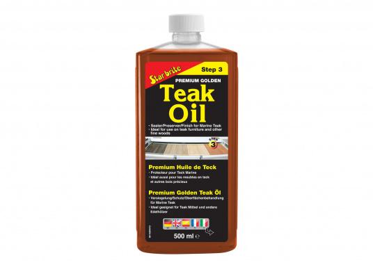 L'huile de teck Golden Premium donne une couleur intense et une protection longue durée à vos tecks. Elle est offre soin et protection et est compatible avec tous les autres produits de la gamme entretien de Star brite pour Teck.