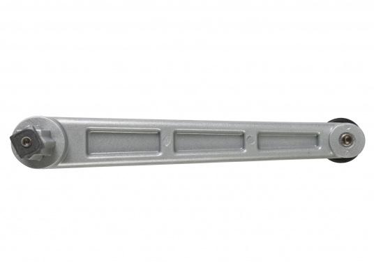 """Einfache, leichte Aluminium-Windenkurbel mit schwarzem Kunstoffgriff. Länge: 200 mm (8"""").  (Bild 2 von 4)"""
