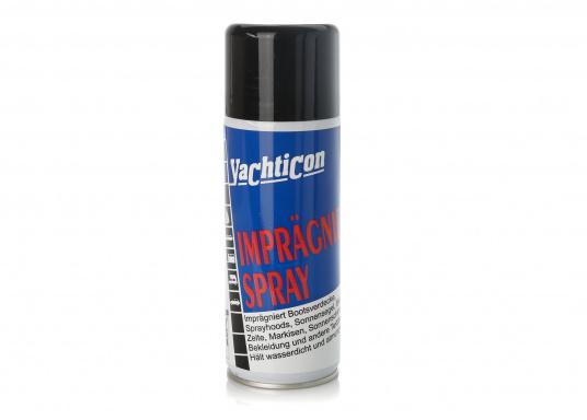 Wasserdichtigkeitund Atmungsaktivität fürVerdecke, Zelte, Sprayhoods, Sonnensegel, Markisen und anderen Stoffe. Das Spray imprägniert materialschonend undverhindert Stockflecken- und Schimmelbefall.