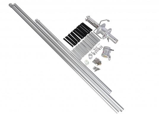 Bewährte Rollreffanlagen von nemo, gefertigt aus seewasserbeständigem Aluminium bzw. Edelstahl. Einfache Montage und Demontage, für Regatten kann auch problemlos die Trommel demontiert werden. Erhältlich in verschiedenen Größen.  (Bild 6 von 7)