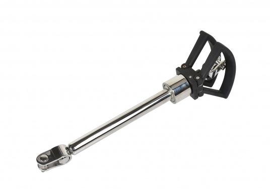 Stagspanner mit praktischem Klappgriff, kann nach Gebrauch platzsparend halbseitig weggegklappt werden.Lieferbar für Drahtdurchmesser von 5-8 mm. (Bild 3 von 3)