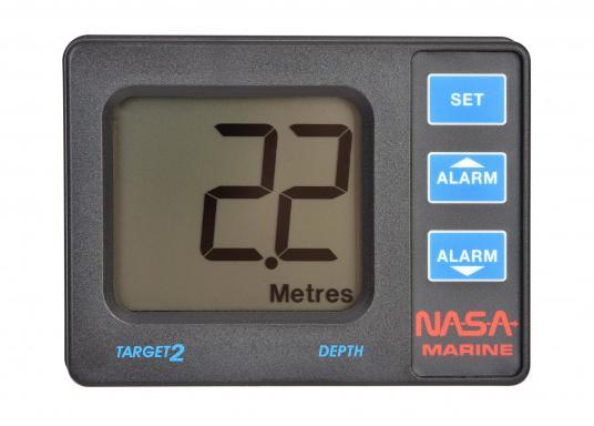 NASA TARGET 2 Echolot inkl. Geber mit einem Tiefenmessbereich von 0,8 m bis 100 m, Einstellbarer Tief- und Flachwasseralarm und Kieltiefen-Kompensation.  (Bild 2 von 9)