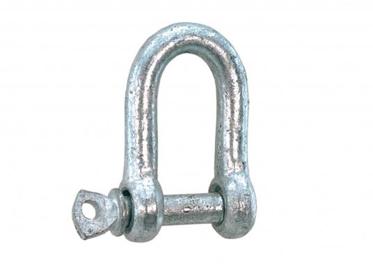 Stahl-Schäkel in gerade Form, erhältlich in verschiedenen Größen.