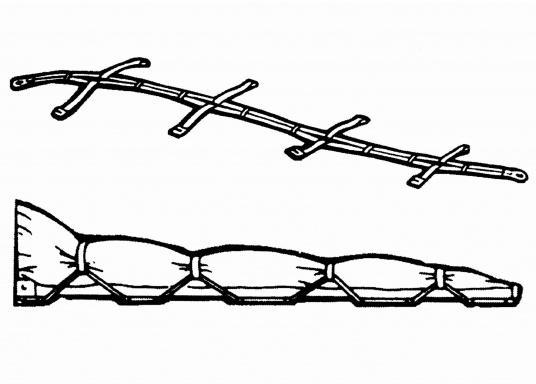"""Der """"Tausendfüßler"""" – dieser praktische Segeleinbinder bietet schnelles Handling beim Einbinden des Großsegels. Lieferbar in zwei Längen.  (Bild 4 von 4)"""