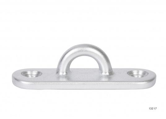 Augplatteaus Aluminium, geschmiedet. Maße: 65 x 20 mm.