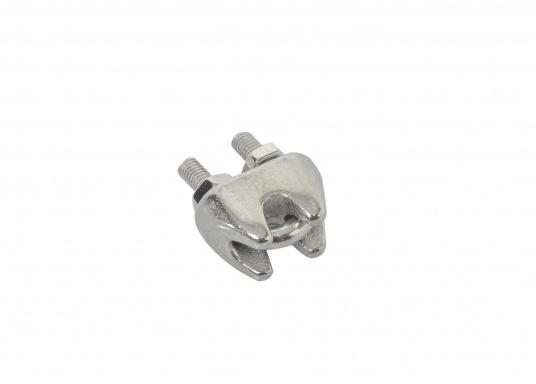 Morsetto a cavallotto in acciaio inossidabile, disponibili in diverse dimensioni. (Immagine 2 di 6)