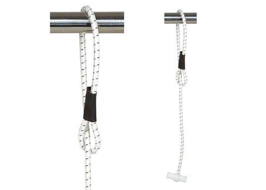 Zuverlässiger Segeleinbinder! Mit diesen Zeising-Segeleinbindern ist Ihr Segel sicher festgebunden. Lieferung im 2er-Set, inklusive Knebel und Öse. In drei Längen erhältlich. (Bild 2 von 2)