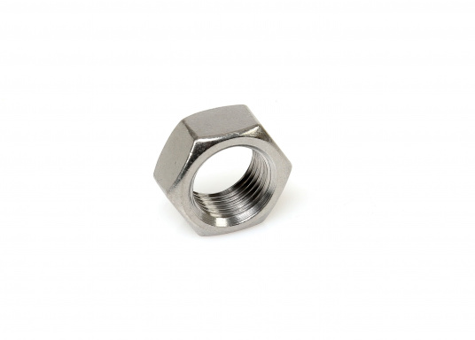 This durable lock nuts are made of stainless steel and feature a metric right-hand thread. Available in various sizes.