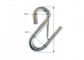 Stainless Steel S-Hooks with Lock