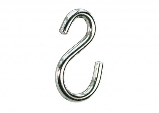 High-quality stainless steel S-hooks, available in various sizes.