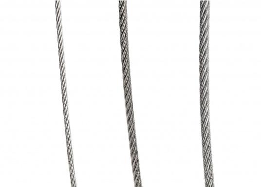 Extra flexibler Edelstahldraht, ideal geeignet für Fallen und Vorläufer. Preise per Meter.  (Bild 2 von 4)