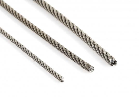 Extra flexibler Edelstahldraht, ideal geeignet für Fallen und Vorläufer. Preise per Meter.